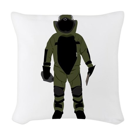 Bomb Suit body Woven Throw Pillow by JMeyerCreations