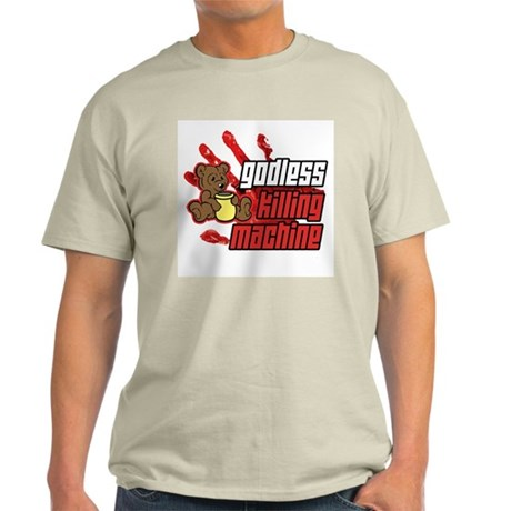 Godless Killing Machine 2 Ash Grey T-Shirt