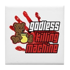 Godless Killing Machine 2 Tile Coaster