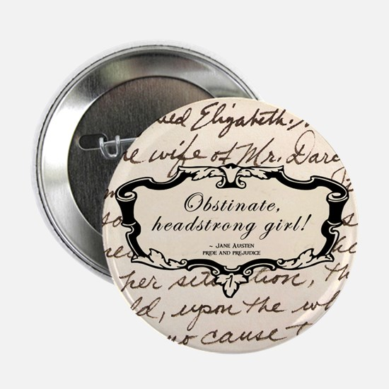"Obstinate Elizabeth Bennet 2.25"" Button"