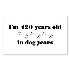 60 dog years 3-2 Decal