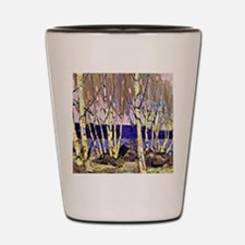 Evening Canoe Lake, Tom Thomson paintin Shot Glass