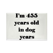 65 dog years 3-3 Magnets