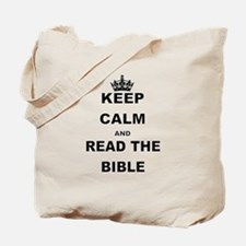 KEEP CALM AND READ THE BIBLE Tote Bag