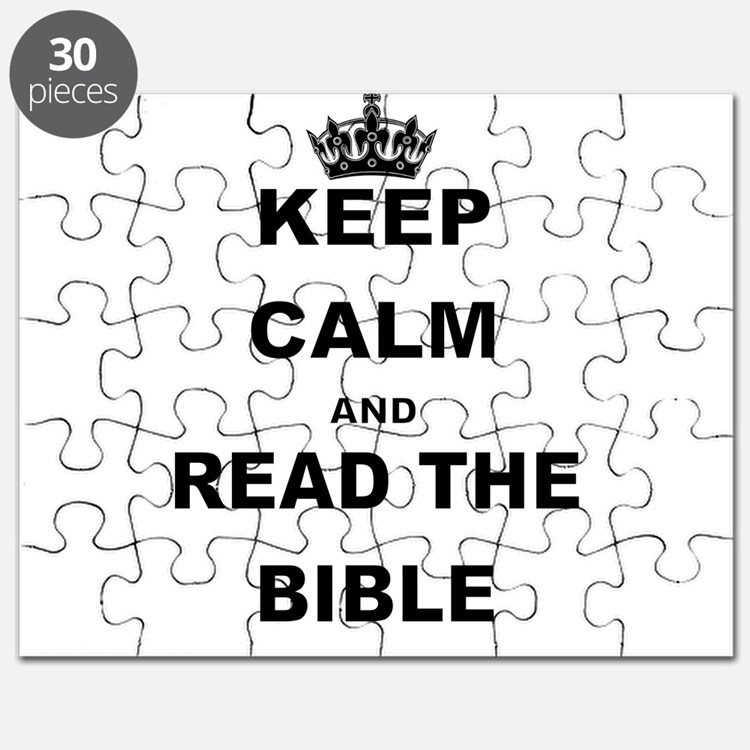 KEEP CALM AND READ THE BIBLE Puzzle