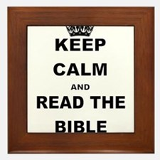 KEEP CALM AND READ THE BIBLE Framed Tile