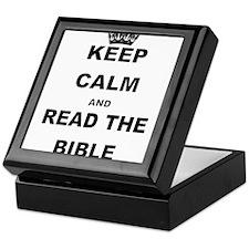 KEEP CALM AND READ THE BIBLE Keepsake Box