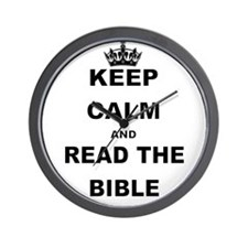 KEEP CALM AND READ THE BIBLE Wall Clock