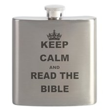 KEEP CALM AND READ THE BIBLE Flask