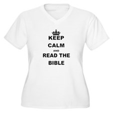 KEEP CALM AND READ THE BIBLE Plus Size T-Shirt