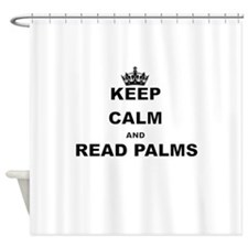 KEEP CALM AND READ PALMS Shower Curtain