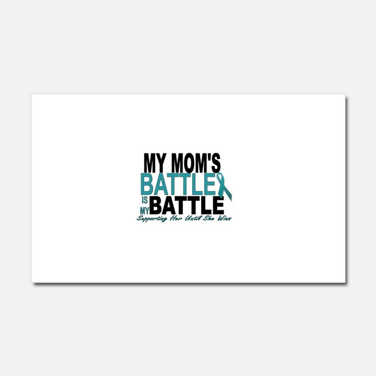 Moms Battle Car Magnet 20 x 12