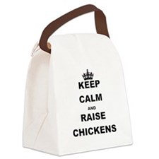 KEEP CALM AND RAISE CHICKENS Canvas Lunch Bag