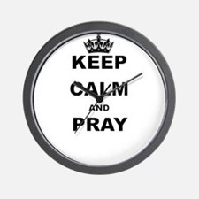 KEEP CALM AND PRAY Wall Clock