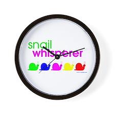 snail whisperer Wall Clock