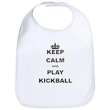 KEEP CALM AND PLAY KICKBALL Bib