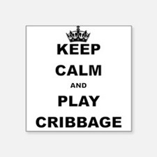 KEEP CALM AND PLAY CRIBBAGE Sticker