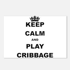 KEEP CALM AND PLAY CRIBBAGE Postcards (Package of