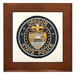 Oregon State Police Framed Tile