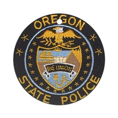 Oregon State Police Ornament (Round)