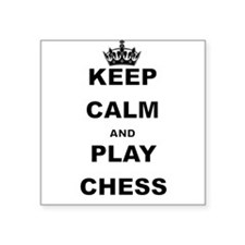 KEEP CALM AND PLAY CHESS Sticker
