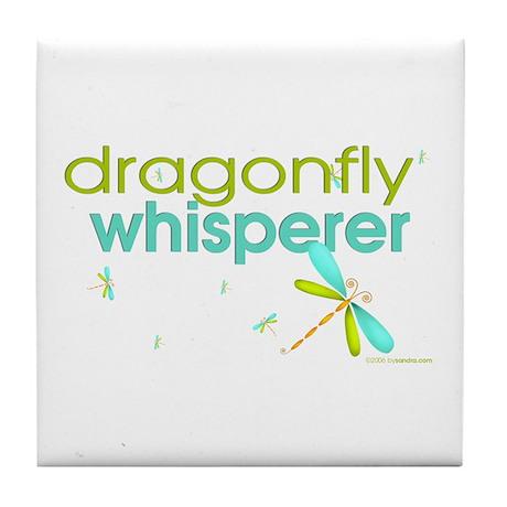 dragonfly whisperer Tile Coaster