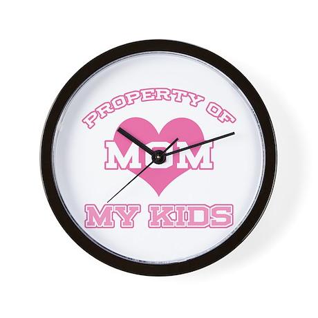 Property My Kids Pink Wall Clock