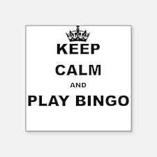 KEEP CALM AND PLAY BINGO Sticker