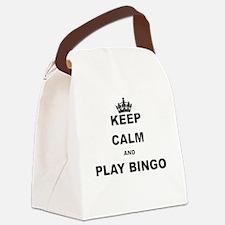 KEEP CALM AND PLAY BINGO Canvas Lunch Bag