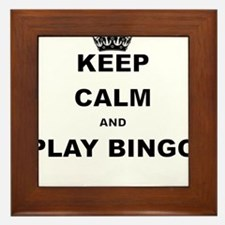 KEEP CALM AND PLAY BINGO Framed Tile