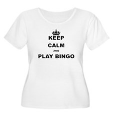 KEEP CALM AND PLAY BINGO Plus Size T-Shirt