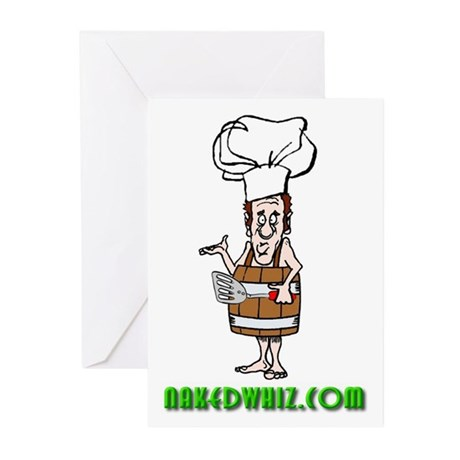 Authentic Naked Whiz Logo Greeting Cards