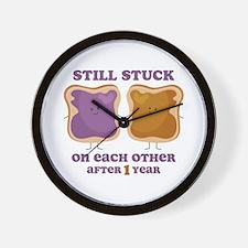 PBJ 1st Anniversary Wall Clock
