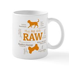 My Dog Eats Raw Because - Wordcloud Mugs