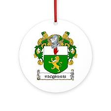 McGinnis Coat of Arms Ornament (Round)