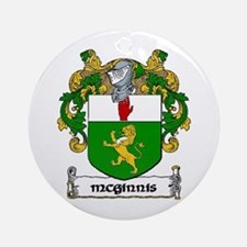 McGinnis Coat of Arms Ornament (Round)