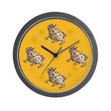Horned Lizard Horny Toad Wall Clock