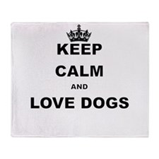 KEEP CALM AND LOVE DOGS Throw Blanket