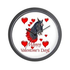 Equine Valentine Wall Clock