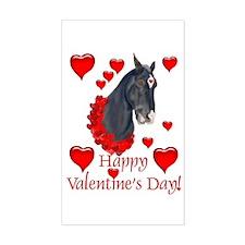 Equine Valentine Rectangle Decal
