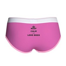 KEEP CALM AND LOVE DOGS Women's Boy Brief