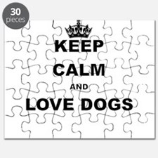 KEEP CALM AND LOVE DOGS Puzzle