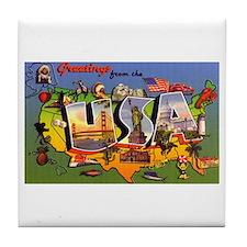 USA America Greetings Tile Coaster