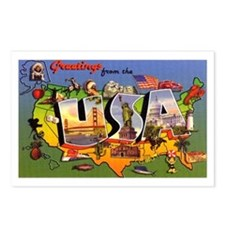 USA America Greetings Postcards (Package of 8)