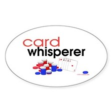 Card Whisperer Oval Decal