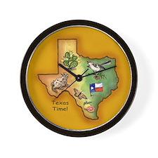 Texas Symbols Wall Clock