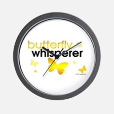 Butterfly Whisperer Wall Clock