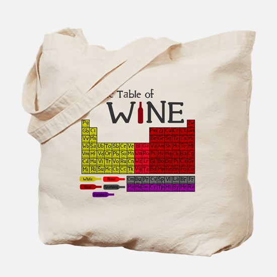 Periodic Table of Wine Tote Bag