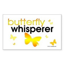 Butterfly Whisperer Rectangle Decal