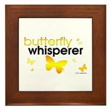 Butterfly Whisperer Framed Tile